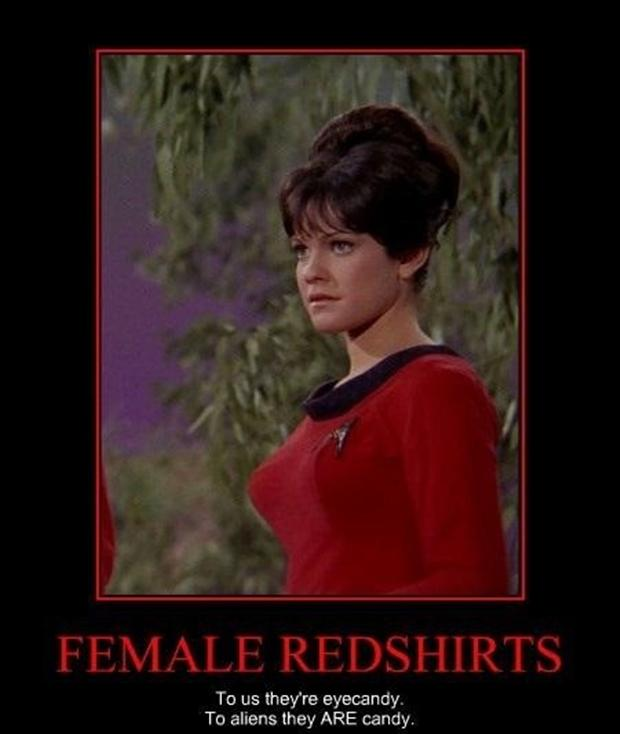 female red shirts